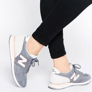 New balance 620 running shoes grey and pink